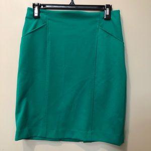 Teal blue pencil skirt!